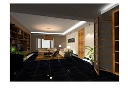 a condominium by ken chong at coroflot com living room look bit dark with the black appealing small space living