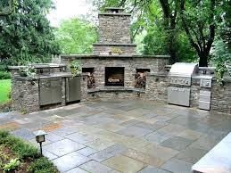 best of outdoor fireplace and grill and rless outside kitchen with fireplace and stone veneer outdoor lovely outdoor fireplace