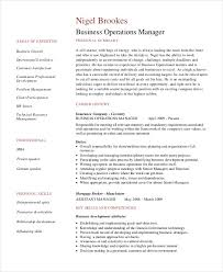 operations manager cv manager resume sample templates 43 free word pdf documents