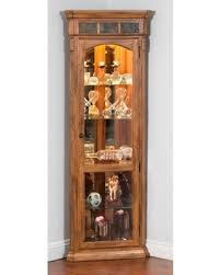 rustic curio cabinet. Contemporary Rustic Sunny Designs Sedona Corner Curio Cabinet  Rustic Oak With T