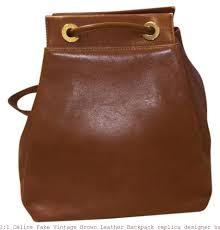 1 1 céline fake vintage brown leather backpack replica designer handbags uk