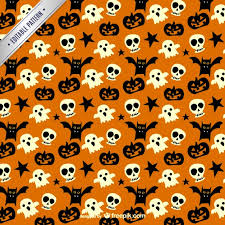 Halloween Pattern Delectable Spooky Pattern For Halloween Vector Free Download
