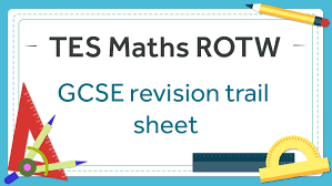 gcse revision trail tes maths resource of the week