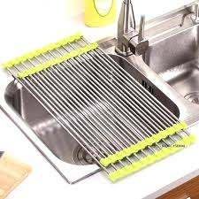 countertop dish drying rack dish holder rack 3 colors kitchen roll up dish drying rack over