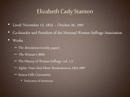 elizabeth cady stanton declaration of sentiments and declaration sentiments elizabeth cady stanton essay