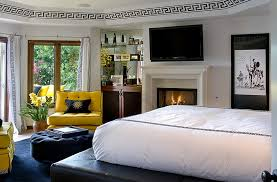 modern bedroom design ideas black and white. View In Gallery Freshness Of Yellow Balances The More Serious Appeal Black And White Modern Bedroom Design Ideas