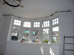 The Incredible along with Gorgeous bay window curtain rod .