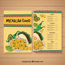 mexican food menu design. Unique Menu On Mexican Food Menu Design A