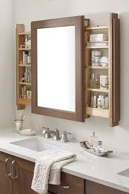 Vanity Mirror Cabinet with Side Pullouts Diamond