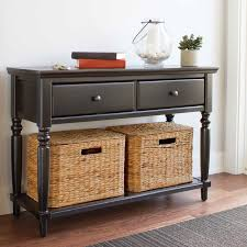 black console table with storage. Delighful Table Black Console Table With Basket Storage 526 Regard To Size 1000 X C