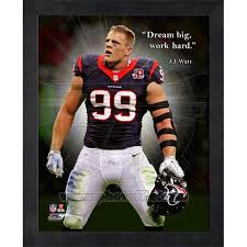 Watt, athlete, born march 22, 1989. Jj Watt Houston Texans Nfl Player Pro Quote Framed Photo Pro Football Hall Of Fame Official Site
