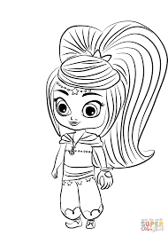 Leah From Shimmer And Shine Coloring Page Free Printable Coloring