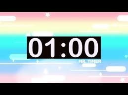 1 Minute Countdown 1 Minute Timer With Music For Kids Countdown Videos Hd