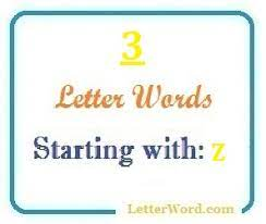three letter words starting with z for