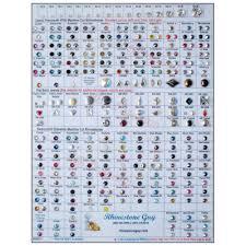 Swarovski Crystal Color Chart Actual Rhinestones Swarovski Rhinestones And Czech Preciosa Crystals Laminated