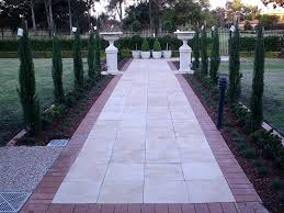 garden edging with concrete path border pavers bunnings
