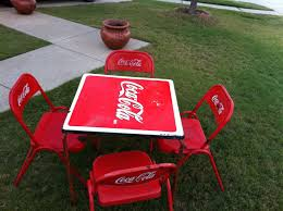 antique coca cola table and chairs 1950s coca cola tables and chairs non fishing classifieds
