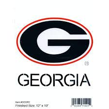 UGA Large G logo Stencil (12X10