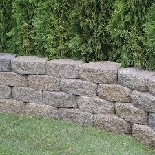 charcoal tan concrete wall block