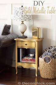 diy furniture makeover full tutorial. DIY Furniture : Gold Metallic Table | Makeover Diy Full Tutorial A
