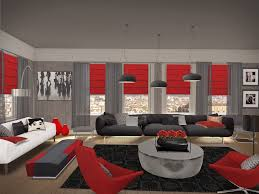 Living: Awesome Red Black Living Room: 12 Red Black Living Room
