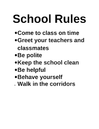 school rules png