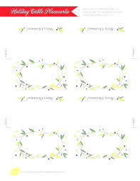 Place Card Holder Template Food Place Cards Template