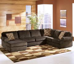 Ashley Furniture Vista Chocolate Casual 3 Piece Sectional with