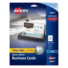 Avery 28371 Business Card Template Avery Business Cards Matte Two Sided Printing 100 Cards 28371