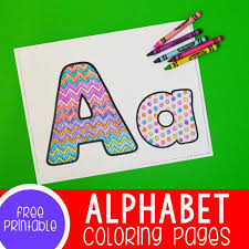 If your kids like to color, these alphabet coloring pages are sure to please! Free Printable Alphabet Coloring Pages For Preschoolers