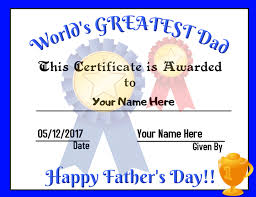 Edit the template by modifying the student's information and other elements. Father S Day Certificate Template Postermywall