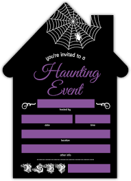 halloween invitations cards spooky haunted house fill in the blank halloween invitation