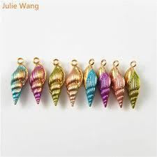 Julie Wang 14pcs Alloy Plated Charms Simulated <b>Mixed</b> Sea Shell ...