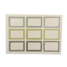 Packet Of 18 Small Self Adhesive Labels In Green