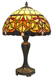 Discount Tiffany Style Lighting Amora Lighting Am018tl12 Tiffany Style Floral Table Lamp 12 Inch Wide Multi