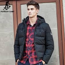 pioneer camp men down jacket brand puffer down jacket men casual russian winter duck down coat