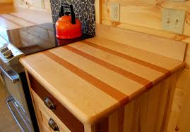 as the maple and cherry wood of this countertop the contrasting species colors will