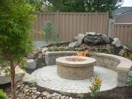 elegant concrete grill pad area circular paver patio with fire for backyard fire pit ideas