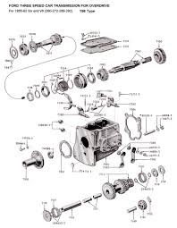 Engine clutch transmission diagram unique flathead parts drawings transmissions