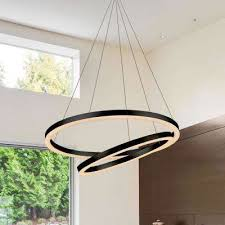 tania duo 60 watt black integrated led adjule modern chandelier 24 in