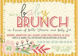 brunch baby shower invitations theruntime com brunch baby shower invitations as mesmerizing baby shower invitation template designs for you 201020165