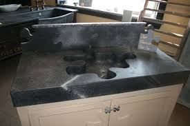 front double sink soapstone