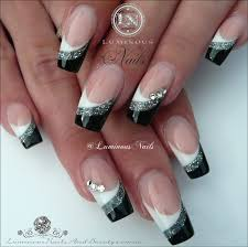 Black And White Nail Designs Acrylic Nails White Silver Black Acrylic Nails Inspired By