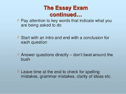 how to prepare for examinations  17 the essay exam continued