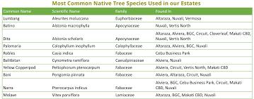Native Trees Ayala Land Investor Relations Ayala Land