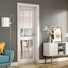 internal white primed worcester 3l door with clear glass gwpwor