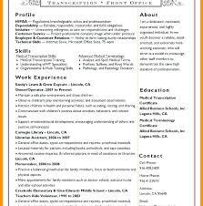 Medical Transcriptionist Resume Creative Medical Sample Resume Image