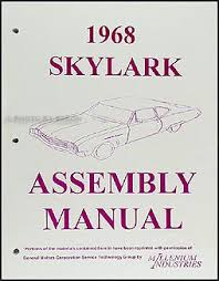 1968 buick wiring diagram manual reprint special gran sport skylark 1968 buick assembly manual gs skylark special deluxe custom sportwagon