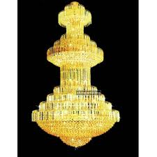 luxury large crystal chandeliers lighting in golden color
