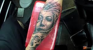 Freehand тату без трафарета и эскиза